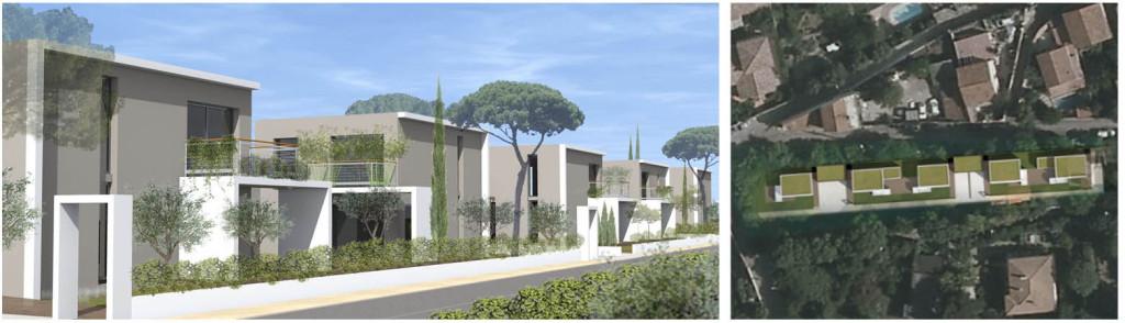 Étude de Faisabilité Immobilière : conception de 5 lots mitoyens modulables affichant une unité d'ensemble