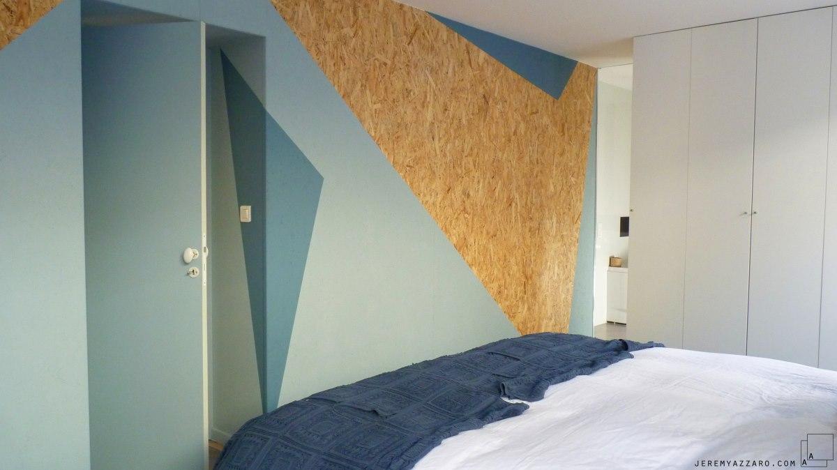 amenagement-bois-osb-design-mobilier-suite-parentale-peinture--geometrie-jeremy-azzaro-architecte