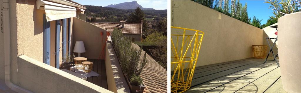 Réalisation : Terrasse tropezienne à Aix en Provence