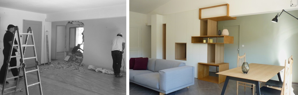 Livraison : aménagement intérieur et mobilier d'une villa