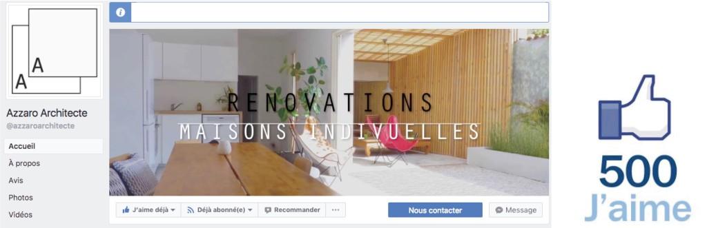 Evénement : 500 personne à suivre la page Azzaro Architecte sur les réseaux sociaux
