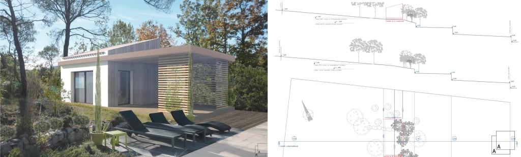 Etude : création d'un pavillon d'invités et d'activités estivales