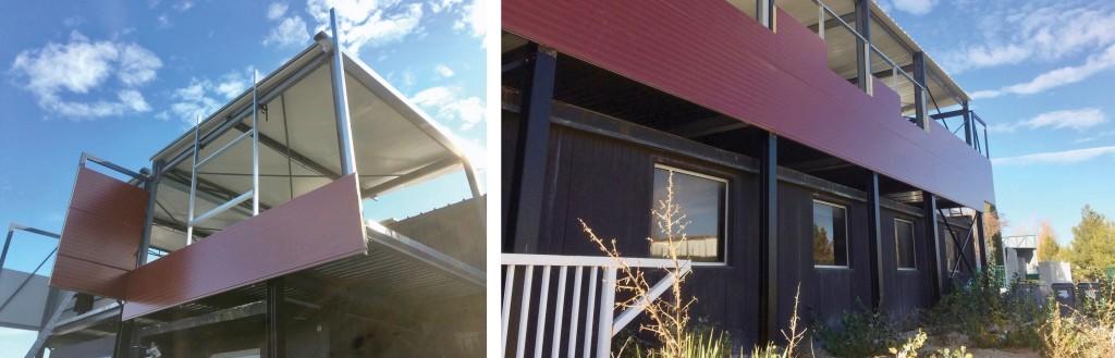 Chantier : Construction de deux logements en acier