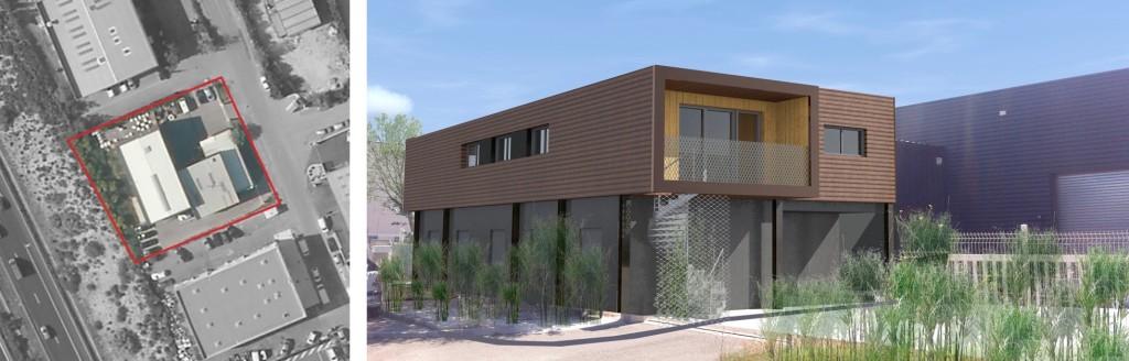 Etude de faisabilité : création de deux logements en ossature acier en zone artisanale