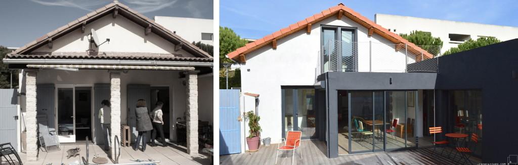 Livraison : aménagement de combles et extension d'une villa marseillaise