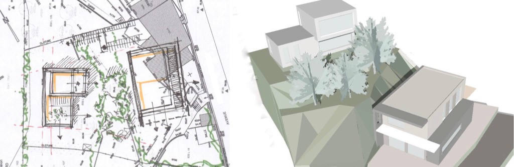 Etude de faisabilité : création de deux maisons contemporaines en quartier en balcons remarquables à Marseille
