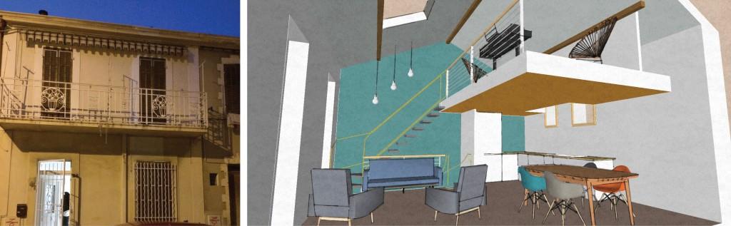 Etude : création d'un loft dans une maison de ville avec double hauteur