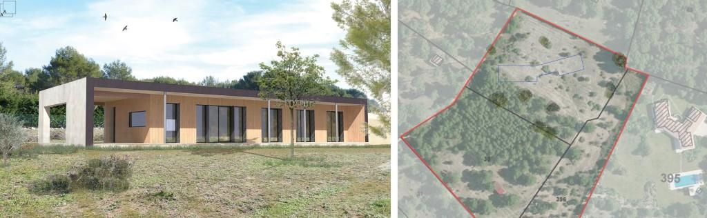 Avant Projet : 2 maisons contemporaines écologiques en ossature bois,