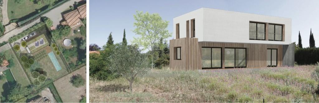 Etude : conception d'une maison contemporaine en ossature légère à vocation passive