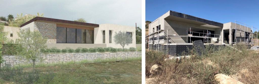 Chantier : Construction d'une maison individuelle contemporaine