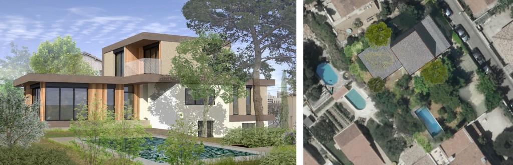 Etude : Dossier de permis de construire pour une maison contemporaine à Marseille