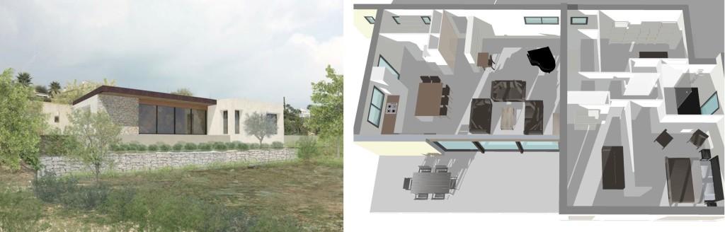 Etude : Obtention du permis de construire et poursuite de l'étude d'une maison contemporaine en site paysager