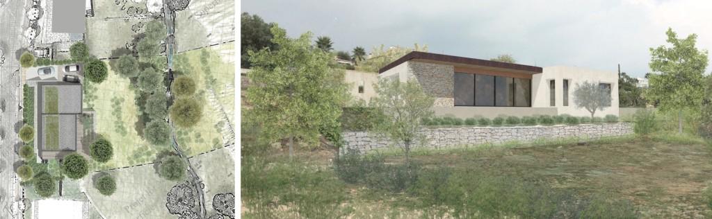 Etude : conception d'une maison contemporaine dans un lotissement paysager