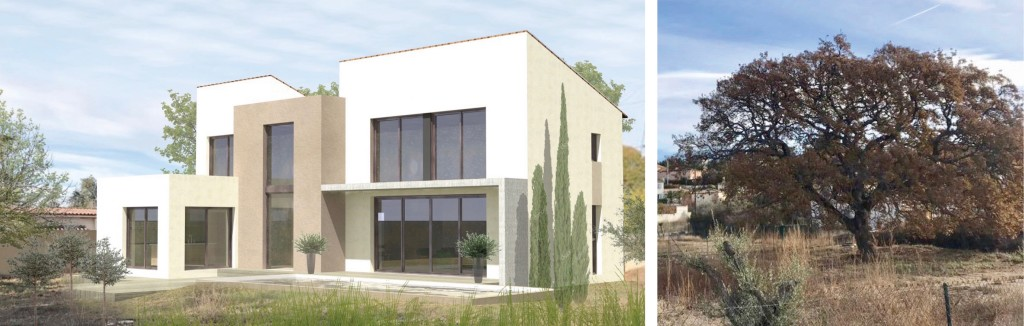 Permis : Dépôt de permis pour cette maison individuelle en Provence