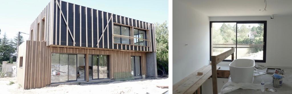 Chantier : maison contemporaine en ossature légère à vocation passive