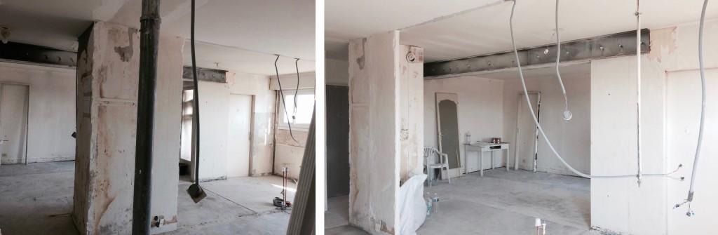 Chantier : transformation d'un appartement année 70 en loft ouvert sur la ville