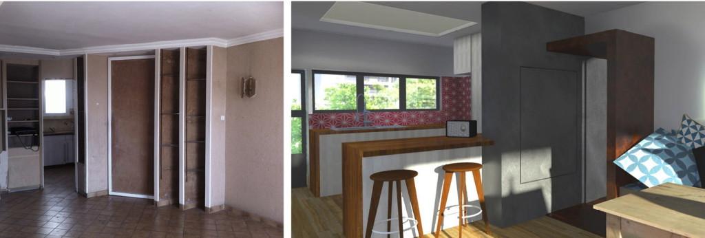 Livraison : réaménagement d'un appartement dans un immeuble des années 70