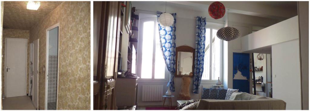 Réalisation : recomposition d'un appartement dans un immeuble de ville de type « trois fenêtres marseillais »