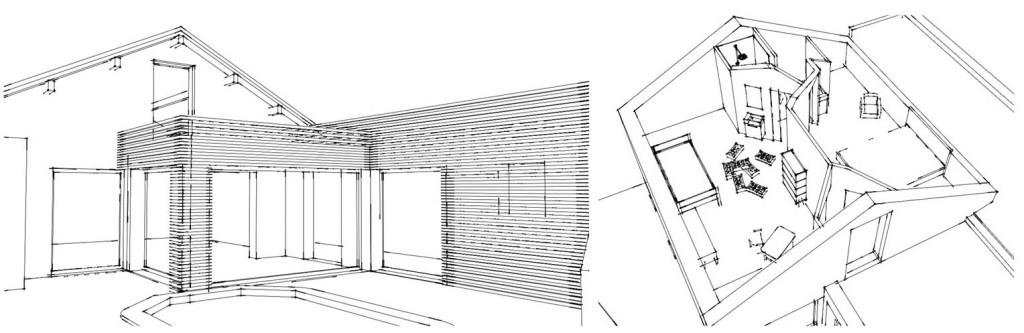 Avant Projet : aménagement de combles et extension d'une villa marseillaise