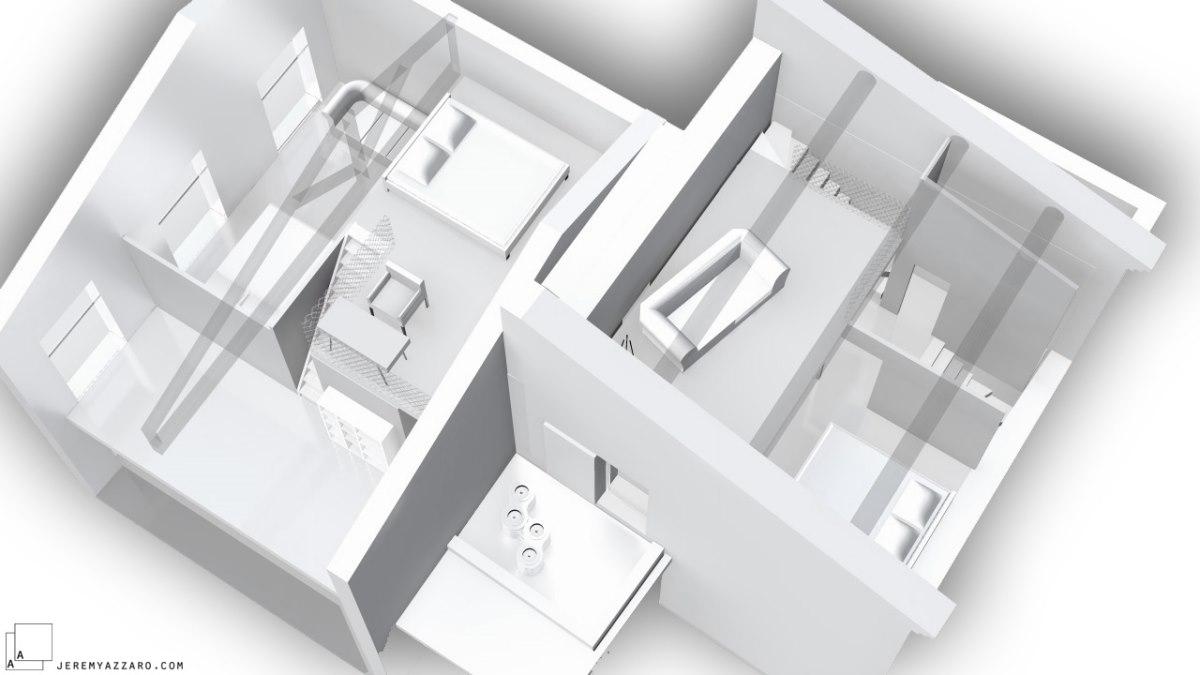 recomposition-maison-contemporaine-combles-doublehauteur-maquette-archik-jeremy-azzaro-architecte