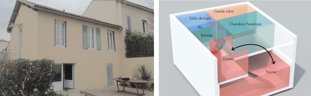 Avant Projet : recomposition d'un maison individuelle sur 3 niveaux,