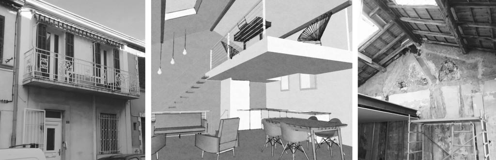 Chantier : création d'un loft dans une maison de ville avec double hauteur