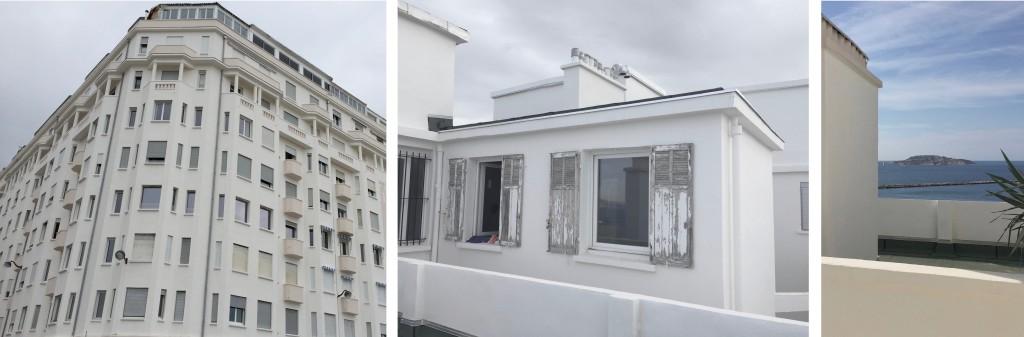 Chantier : Rénovation d'un appartement en attique immeuble des Catalans Marseille