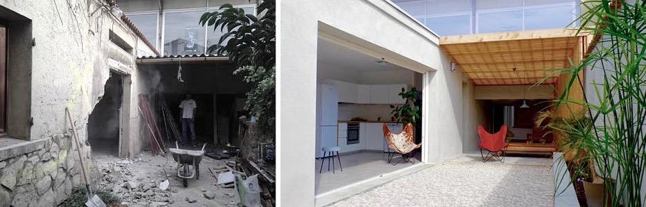 Livraison : appartement jardin, esprit loft, à partir d'une cave atelier