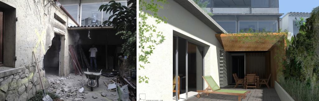 Démarrage chantier : création d'un logement à partir d'un atelier et d'une cave