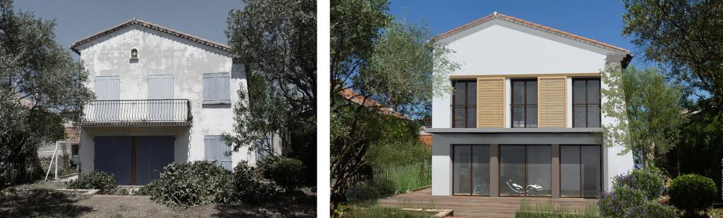 Etude : restructuration et recomposition d'un villa de 140m2,