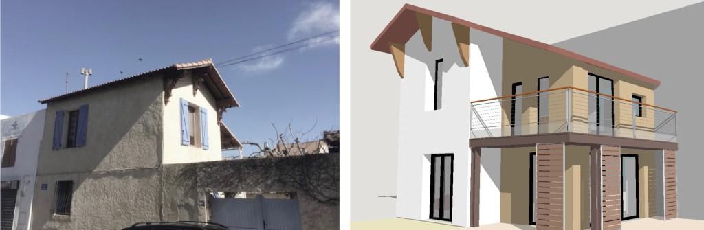 Etude : Premières Esquisses de la recomposition d'une maison individuelle
