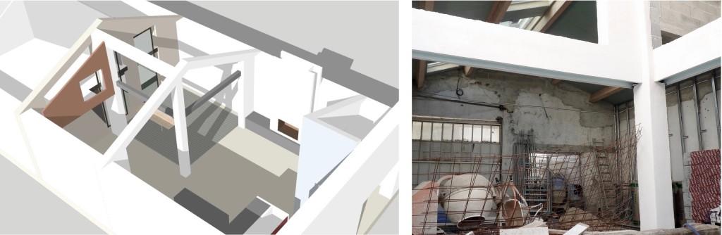 Chantier : Transformation d'un hangar en loft à patio